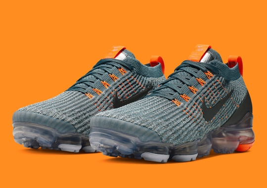 Bold Orange Accents Add Flair To This Vapormax Flyknit 3.0