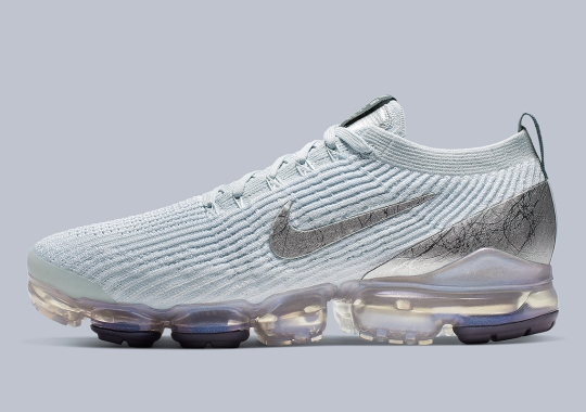 "Nike Vapormax Flyknit 3 ""Reflect Silver"" Features Textured Swoosh And Heel Plates"