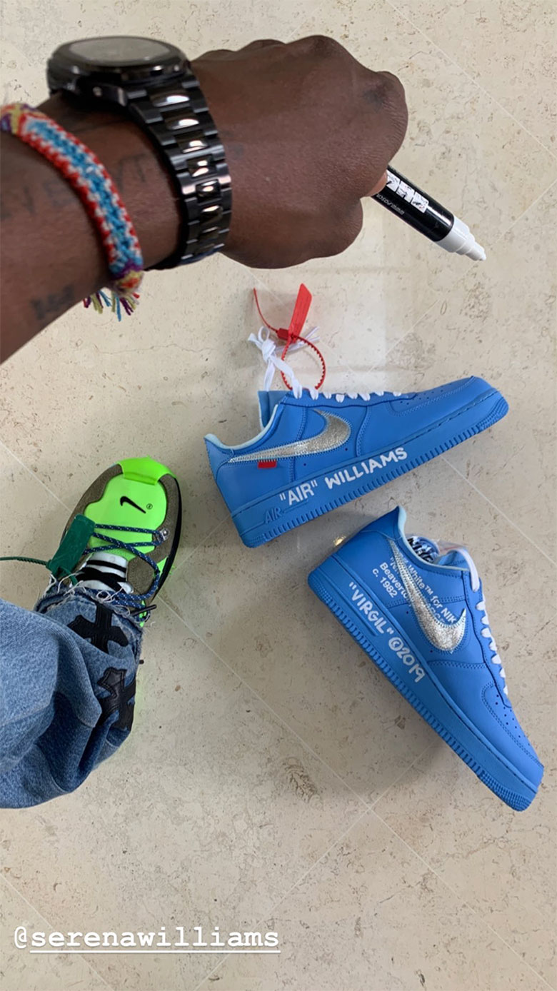 Off White Nike Air Force 1 Blue Mca Release Info Sneakernews Com