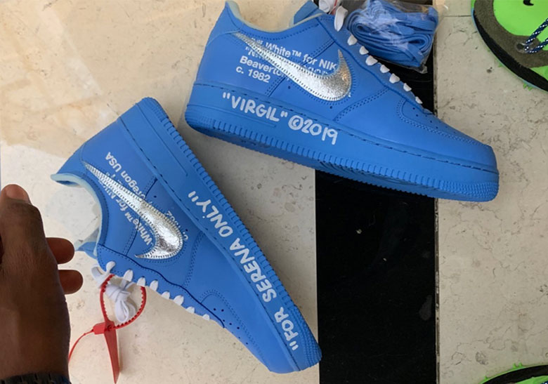 68fe30c2 Virgil Abloh Gifts Serena Williams The Off-White x Nike Air Force 1 MCA In  Blue