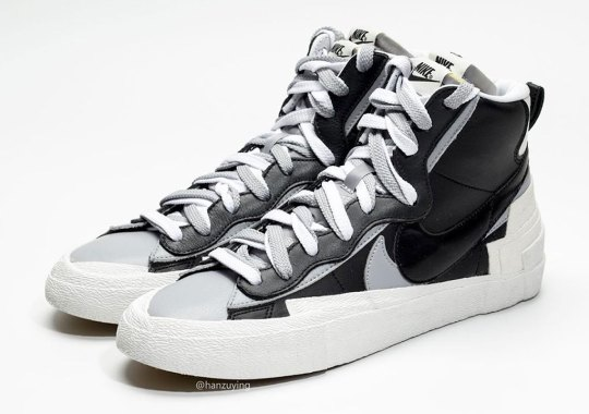 sacai x Nike Blazer Appears In Black And Grey