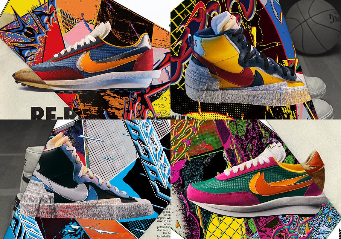 sacai Nike LDWaffle + Sacai Blazer Official Store List