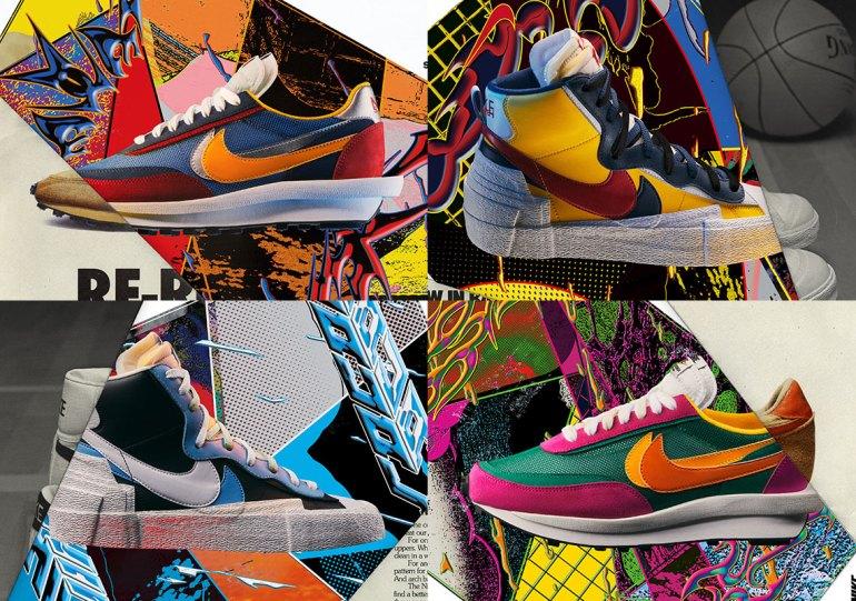 d74f1e3d2f5b6f Where To Buy The sacai x Nike LDWaffle + Blazer