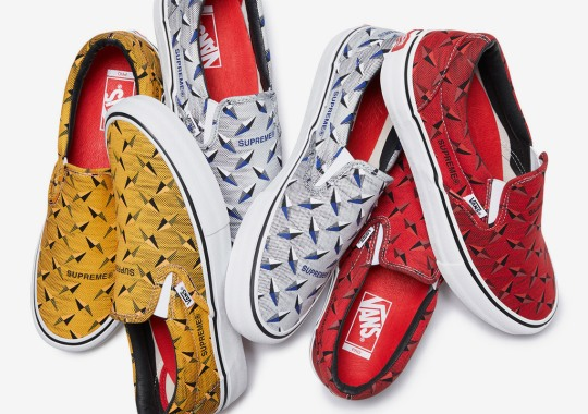 Supreme And Vans Introduce Diamond-Etched Graphics To Two Models