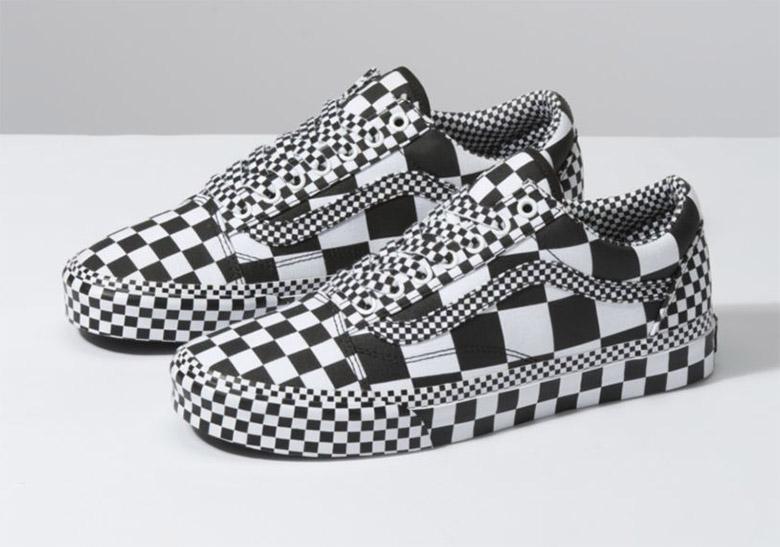 vans checkerboard all white