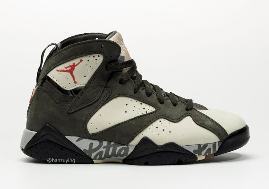 The Patta x Air Jordan 7 Revealed In New Icicle Colorway