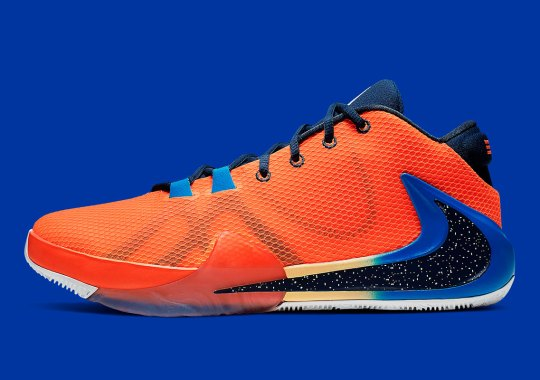 Giannis Antetokounmpo's Nike Zoom Freak 1 Gets Dressed In Bright Orange