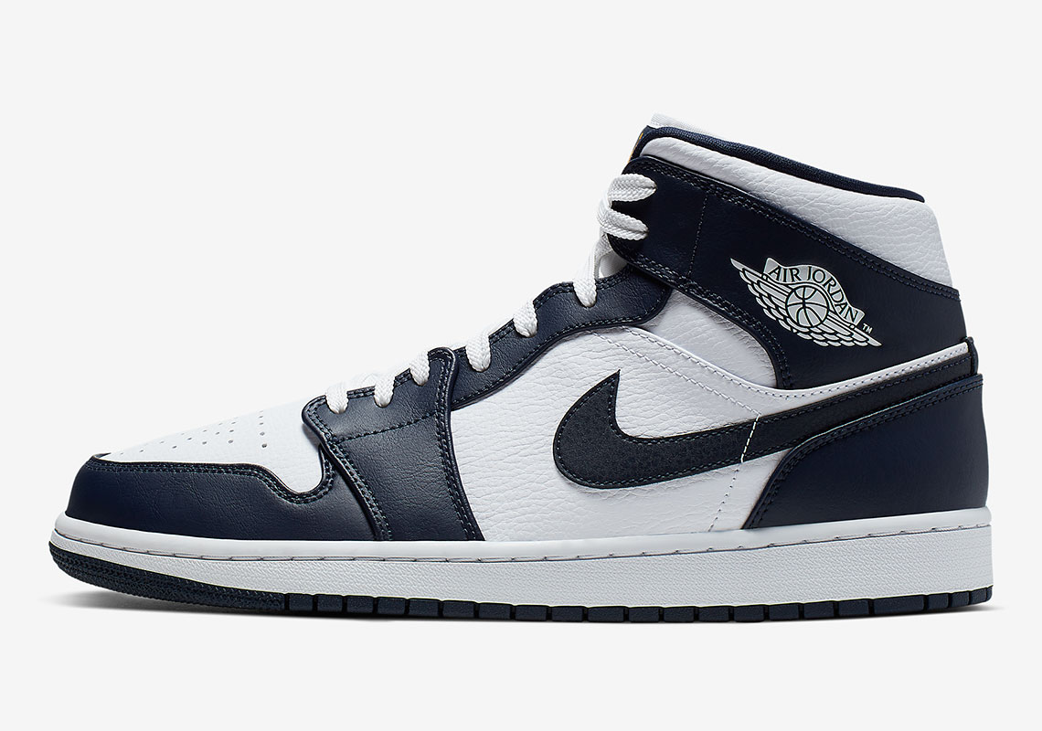 Jordan 1 Mid Navy Gold 554724-174 Release Info | SneakerNews.com