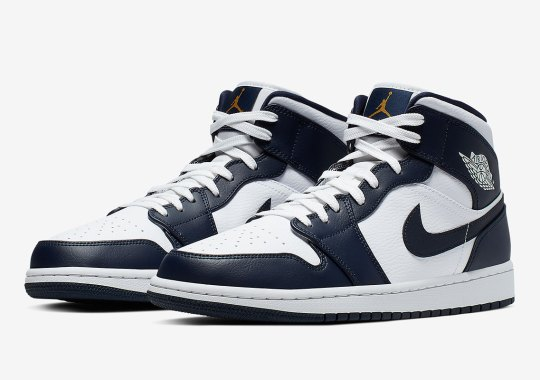A USA-Friendly Air Jordan 1 Mid In Navy And Gold Is Dropping Soon