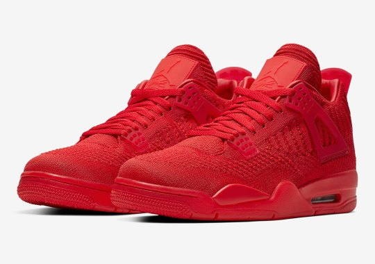 Official Images Of The Air Jordan 4 Flyknit In Red