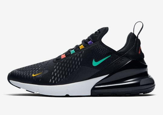 The Nike Air Max 270 Appears With Multi-colored Lace Eyelets