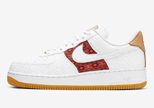 Aztec Patterns Appear On This Nike Air Force 1 With Gum Soles