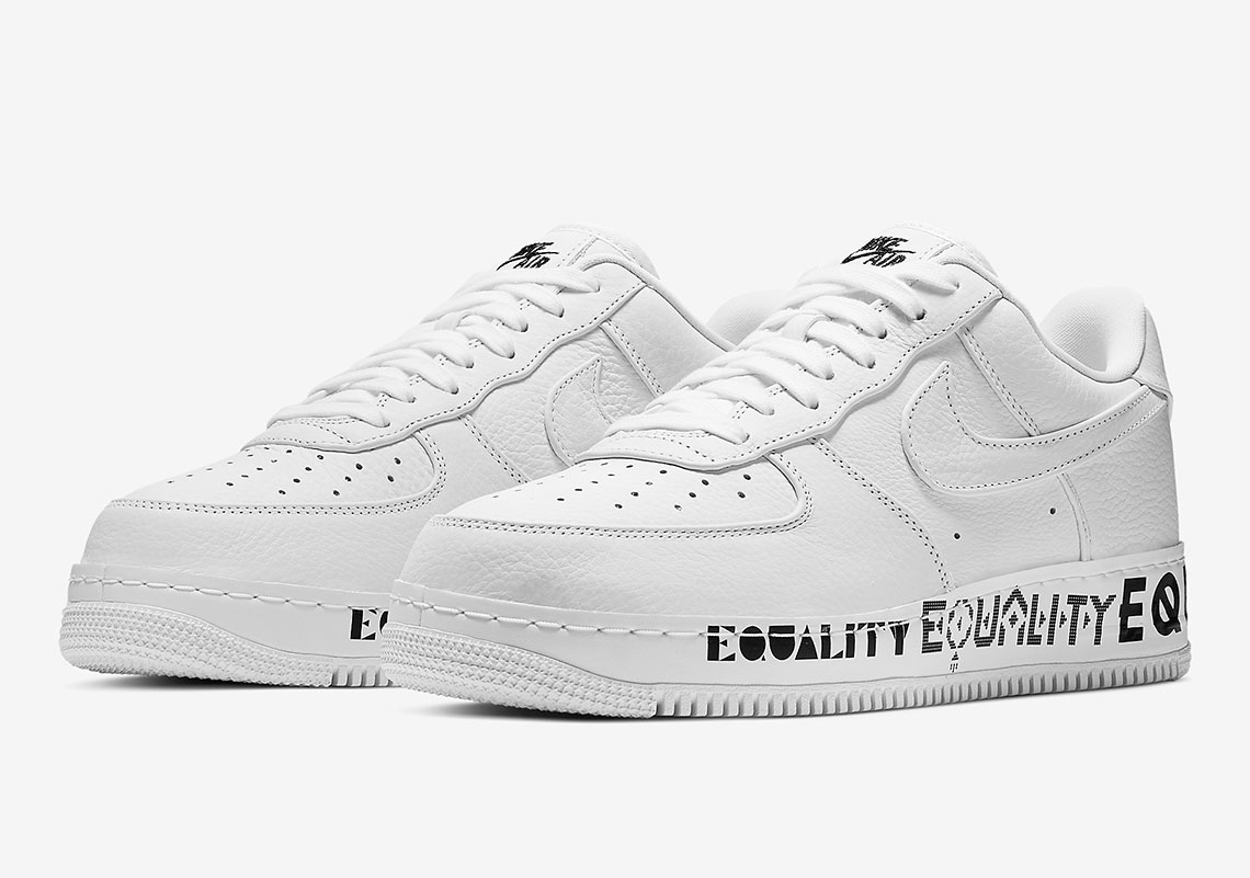 buy popular 86b47 f458f Nike Air Force 1 EQUALITY AQ2118-100 Release Info ...