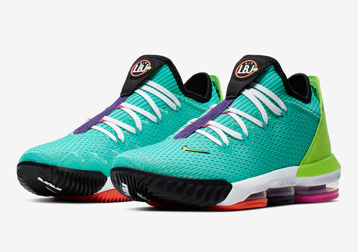 """6aeeb5a6de0e4 This Nike LeBron 16 Low """"Hyper Jade"""" Is A Tribute To Air Max History"""
