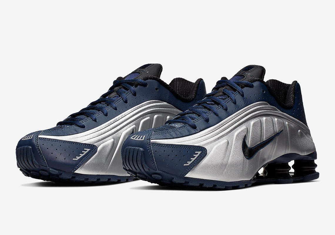 The Nike Shox R4 Returns In Silver Navy On September 7th