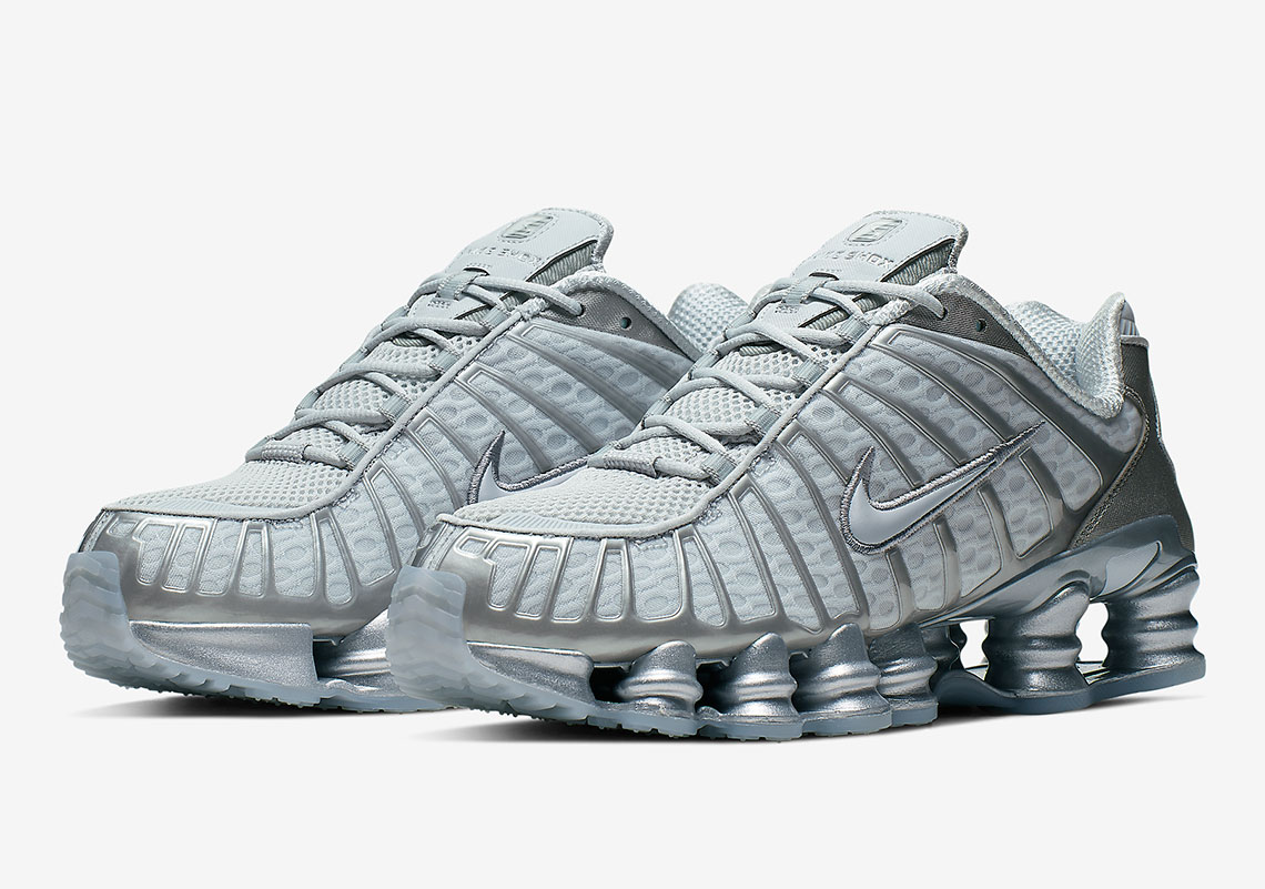 various design well known official photos Nike Shox TL Pure Platinum AV3595-003 Release Info ...