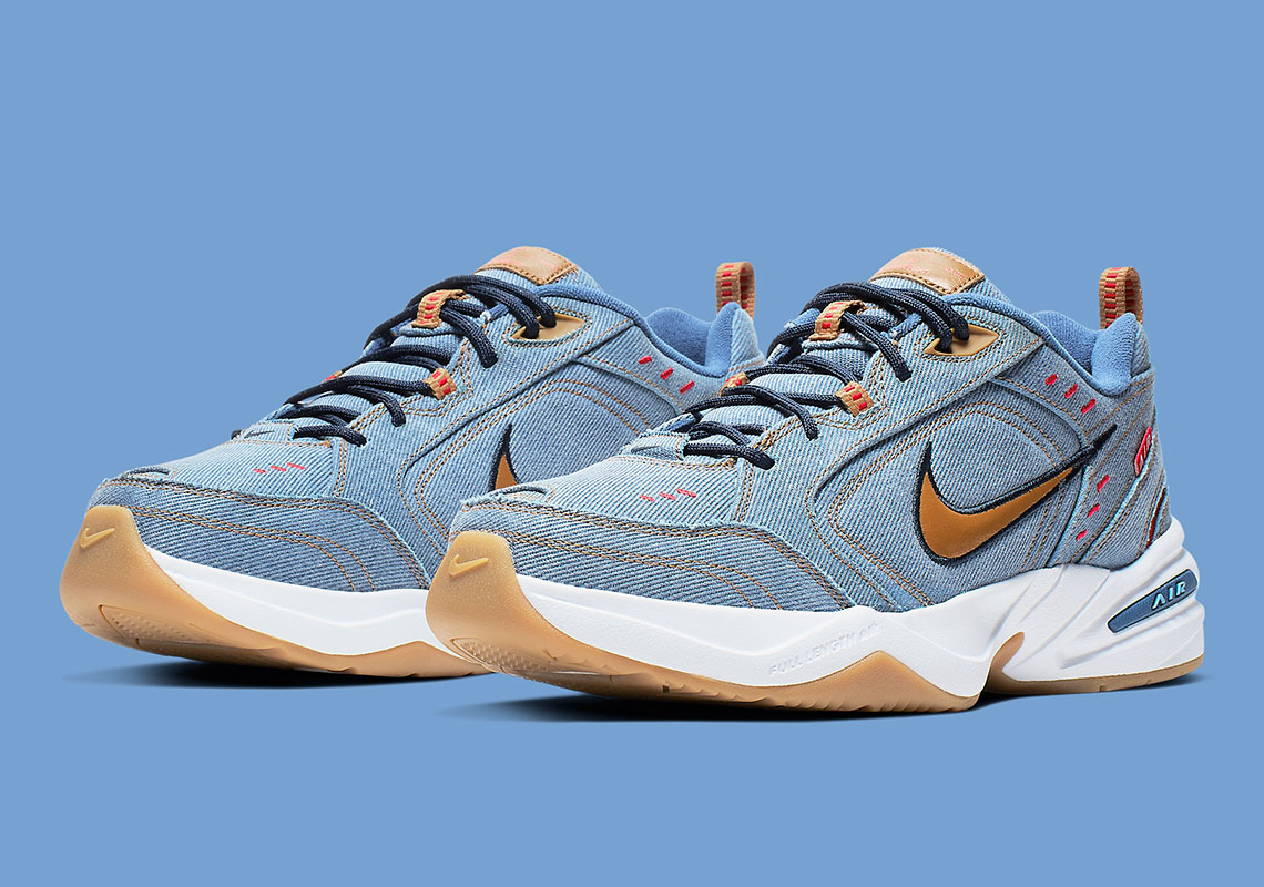 Nike Air Monarch Denim Father's Day 2019 AV6676 400 Release