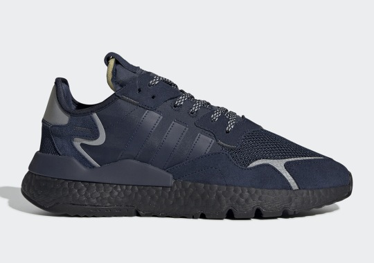7b3d5e8b2 The adidas Nite Jogger Goes Stealthy With Dark Navy And Black BOOST