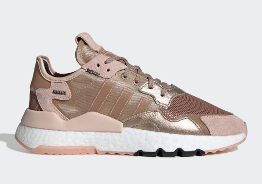 Rose Gold Accents Appear On The adidas Nite Jogger