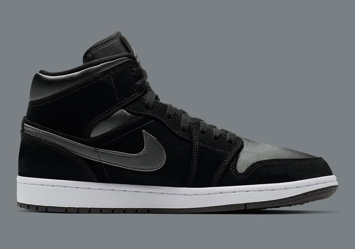 save off e9494 41727 Jordan 1 Mid Black Grey 852542-012 Release Info ...