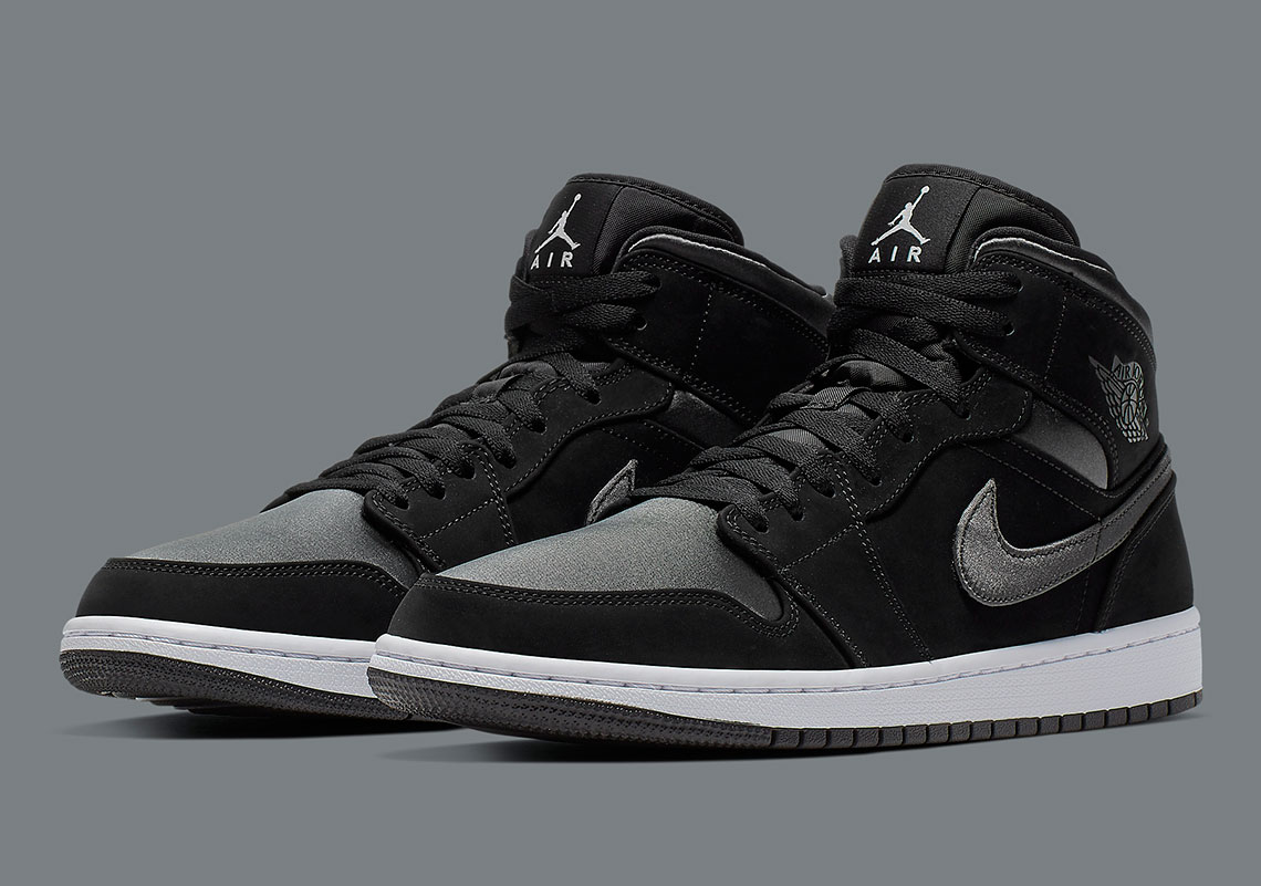 save off 9ed6a 39c22 Jordan 1 Mid Black Grey 852542-012 Release Info ...