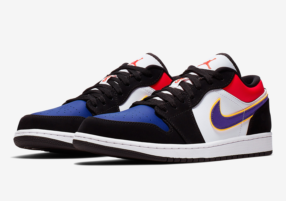 "best service f7e8c bc780 This Air Jordan 1 Low Mixes Classic ""Royal"", The Lakers, and More"
