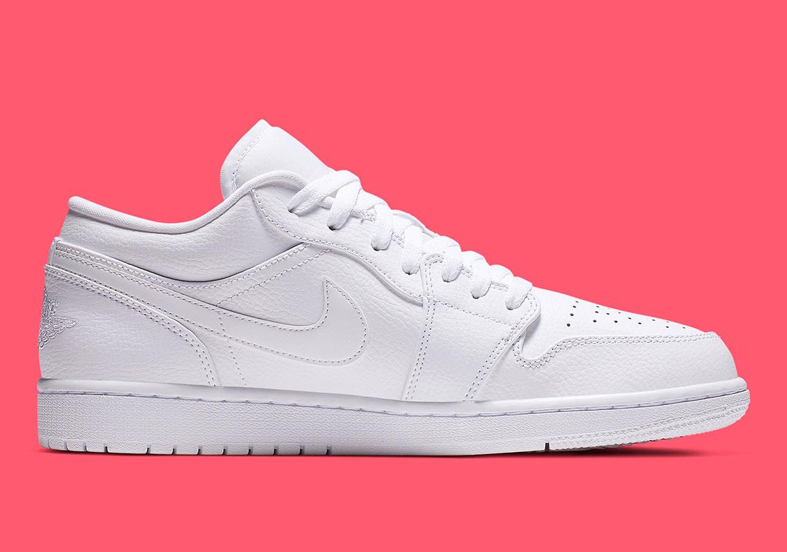 factory price fashion sports shoes Jordan 1 Low Triple White 553558-112 Release Info | SneakerNews.com