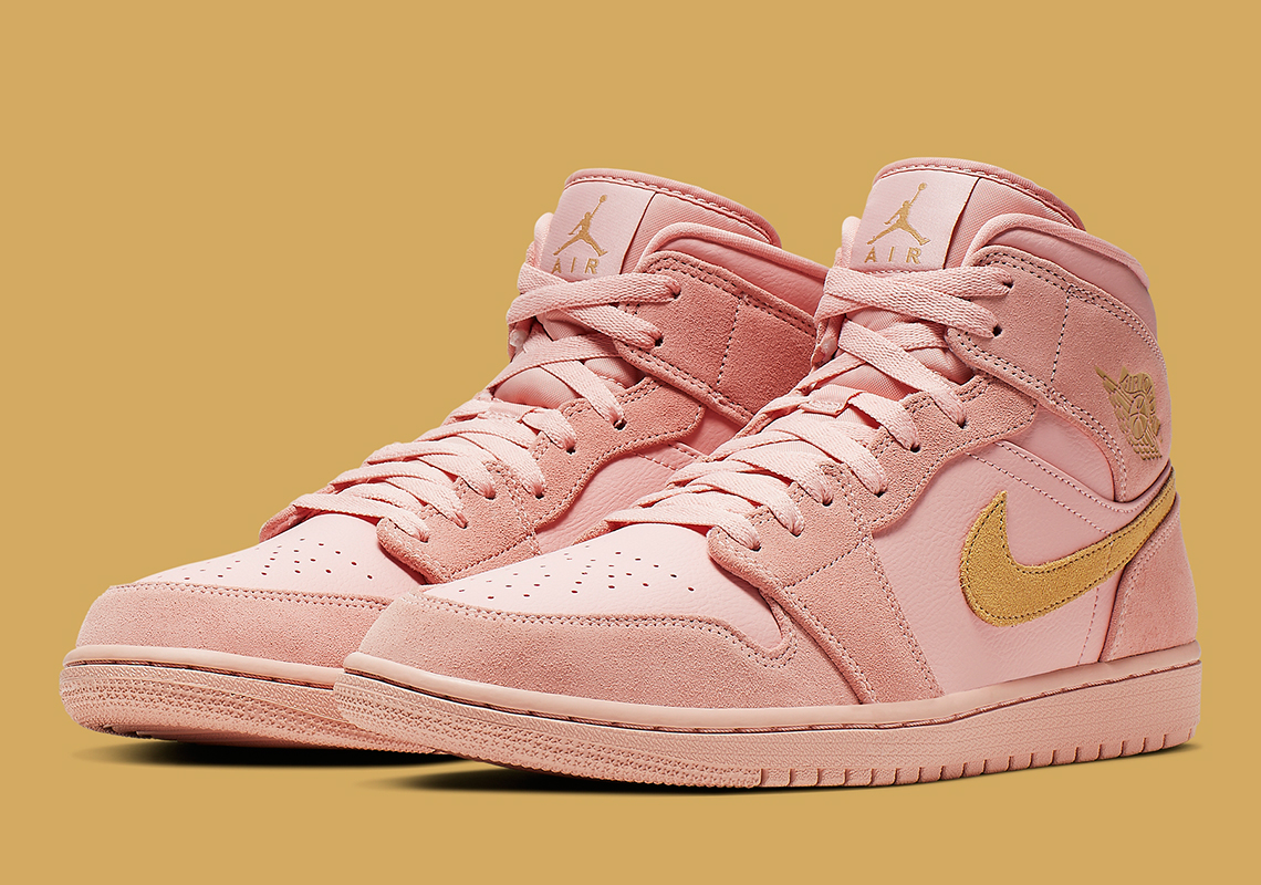 nike air jordan 1 mid rose gold