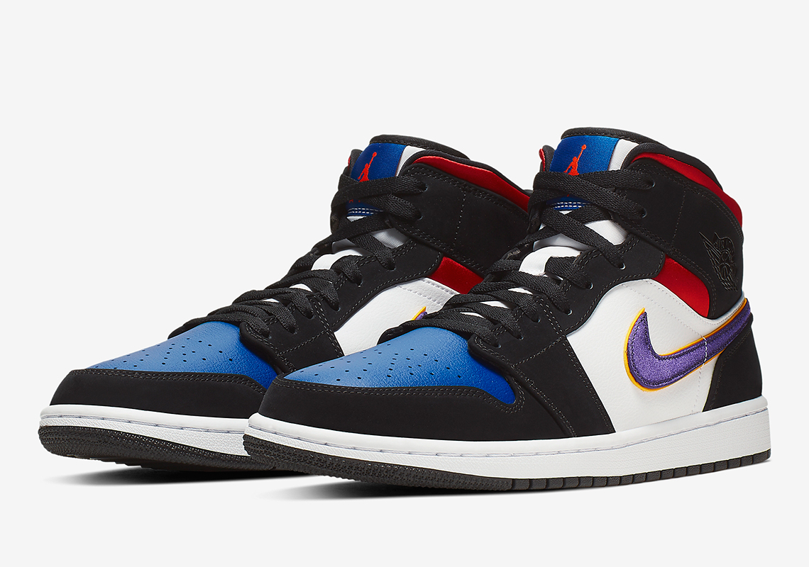 Air Jordan 1 Mid Purple White Red 852542-005 Release Info ...