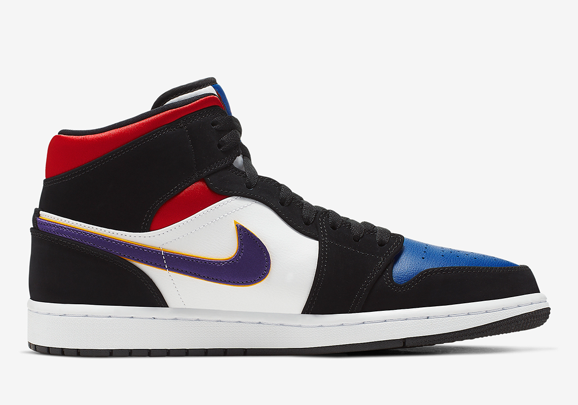 Air Jordan 1 Mid Purple White Red 852542 005 Release Info