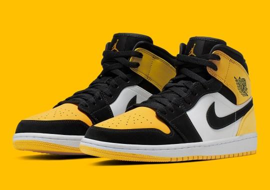 """Air Jordan 1 Mid """"Yellow Toe"""" Is Releasing In June"""