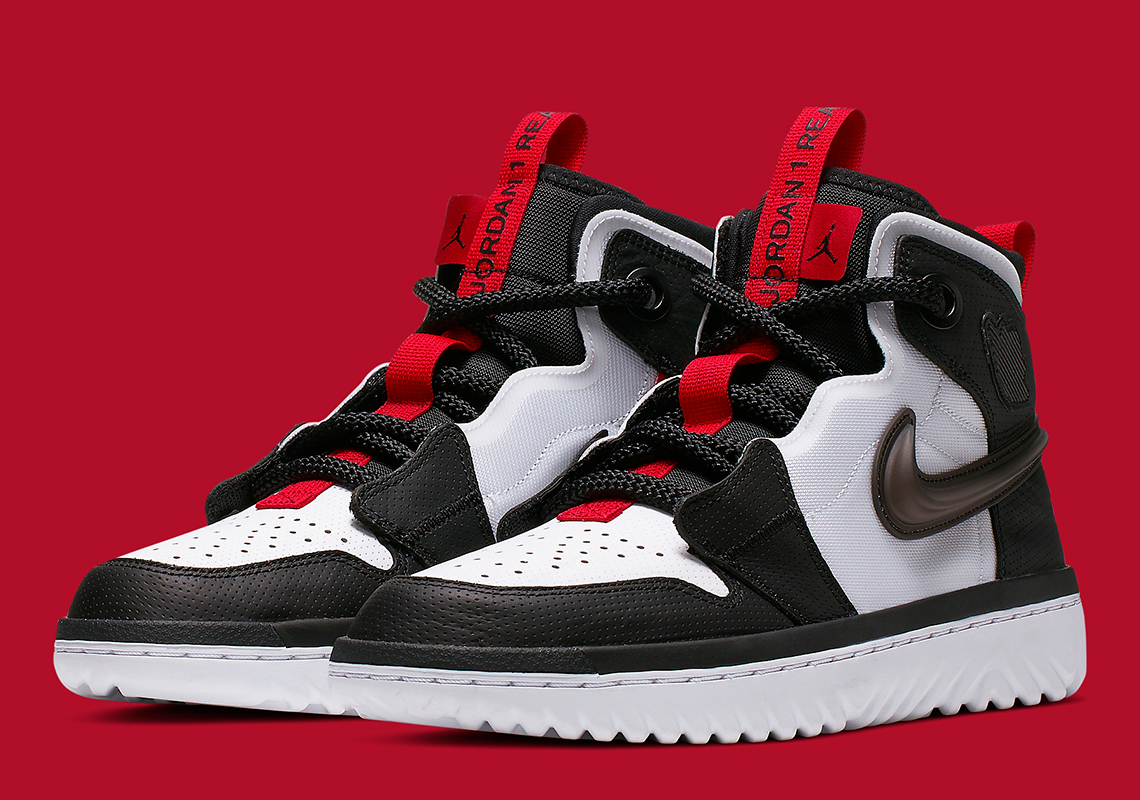 designer fashion 43966 bc950 Jordan 1 React White Black Red AR5321-016 Release Date ...