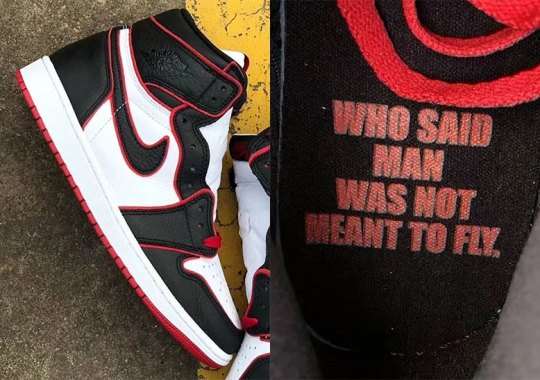 "This Air Jordan 1 Is Inspired By 1985's ""Who Said Man Was Not Meant To Fly"" Ad"