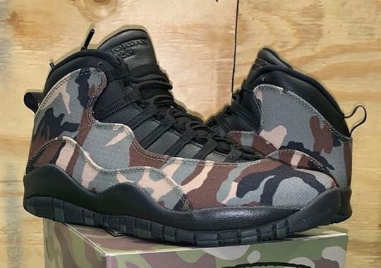 e727ee055a590 Ripstop Camo Prints Are Coming To The Air Jordan 10 Retro