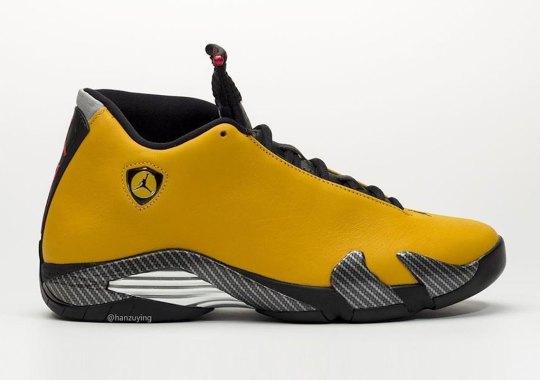 "Detailed Look At The Air Jordan 14 ""Yellow Ferrari"""