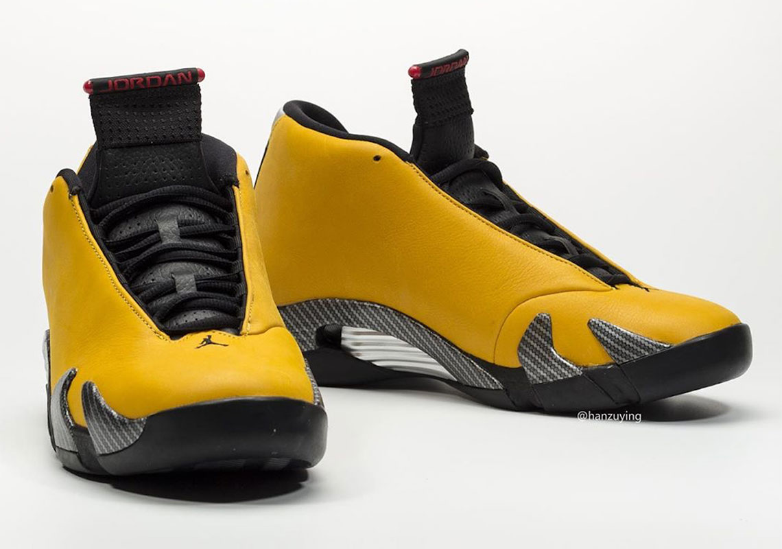 Air Jordan 14 Yellow Ferrari Bq3685 706 Release Info Sneakernews Com