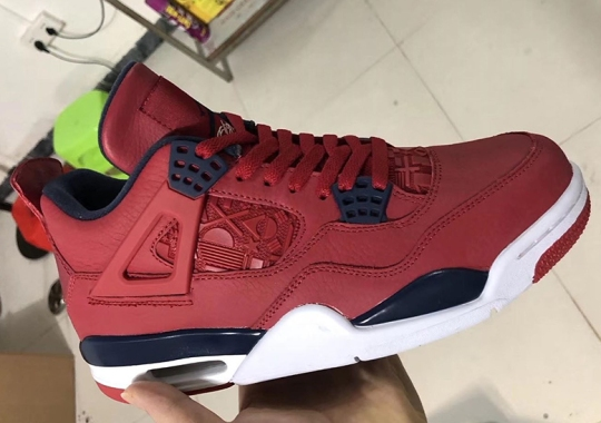 "a27a05d0192 Air Jordan 4 ""FIBA"" Features International Flags On The Midfoot And Tongue"
