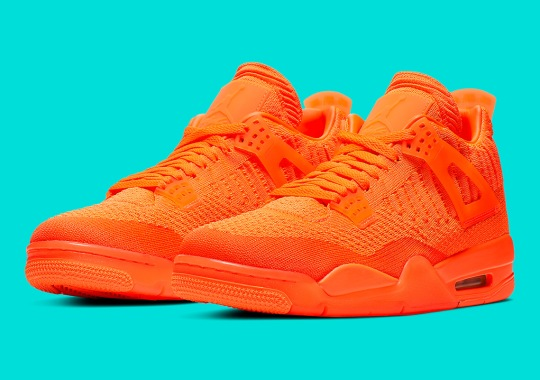 Official Images Of The Air Jordan 4 Flyknit In Orange