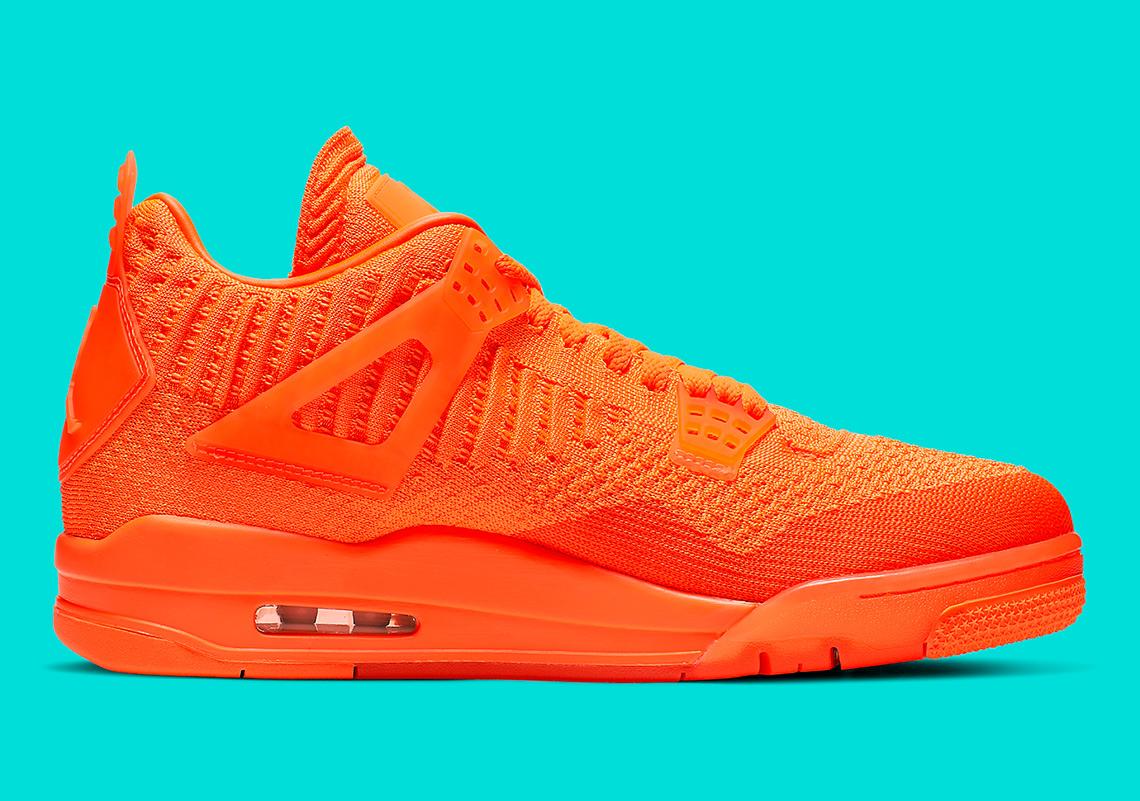 d3b350d0 Air Jordan 4 Flyknit Release Date: June 14th, 2019 $220. Color: Total  Orange/Total Orange-Total Orange Style Code: AQ3559-800