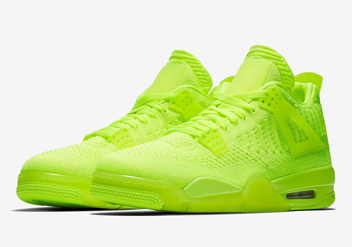 Air Jordan 4 Flyknit Volt CD7094-001 | SneakerNews.com