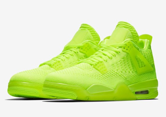 "Official Images Of The Air Jordan 4 Flyknit ""Volt"""