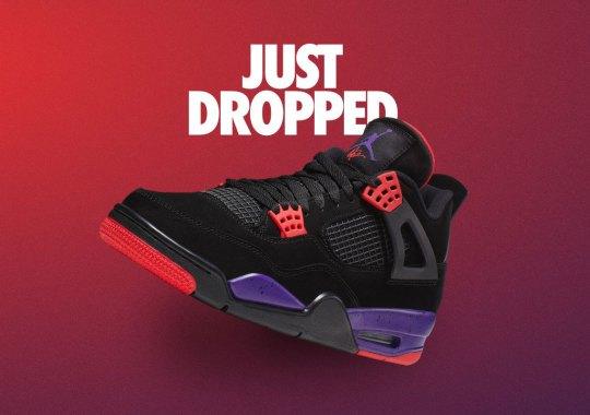 "Nike SNKRS Releases The Air Jordan 4 ""Raptors"" With Drake's Signature"