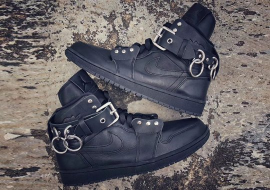 Up Close With The COMME des GARCONS x Air Jordan 1 High