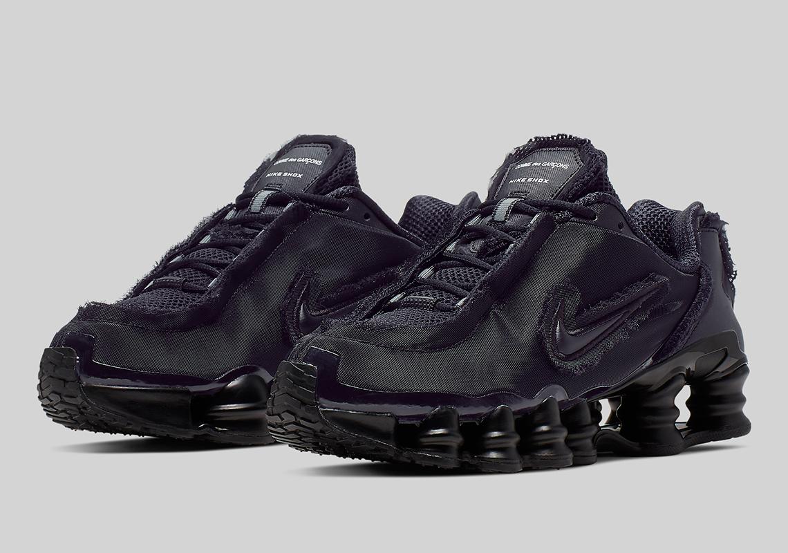 Comme Des Garcons Nike Shox TL Black CJ0546-001 Release Date ...