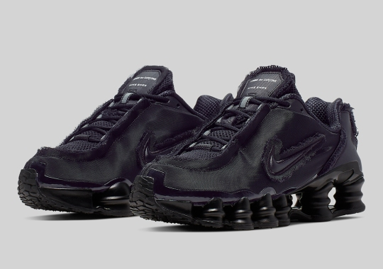 Official Images Of The Comme des Garçons x Nike Shox TL In Black