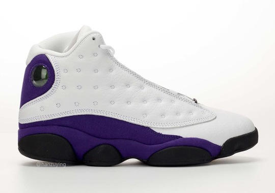 "ce82bc097a9 Air Jordan 13 ""Lakers"" Commemorates Michael Jordan's Rivals Of The 1990s"