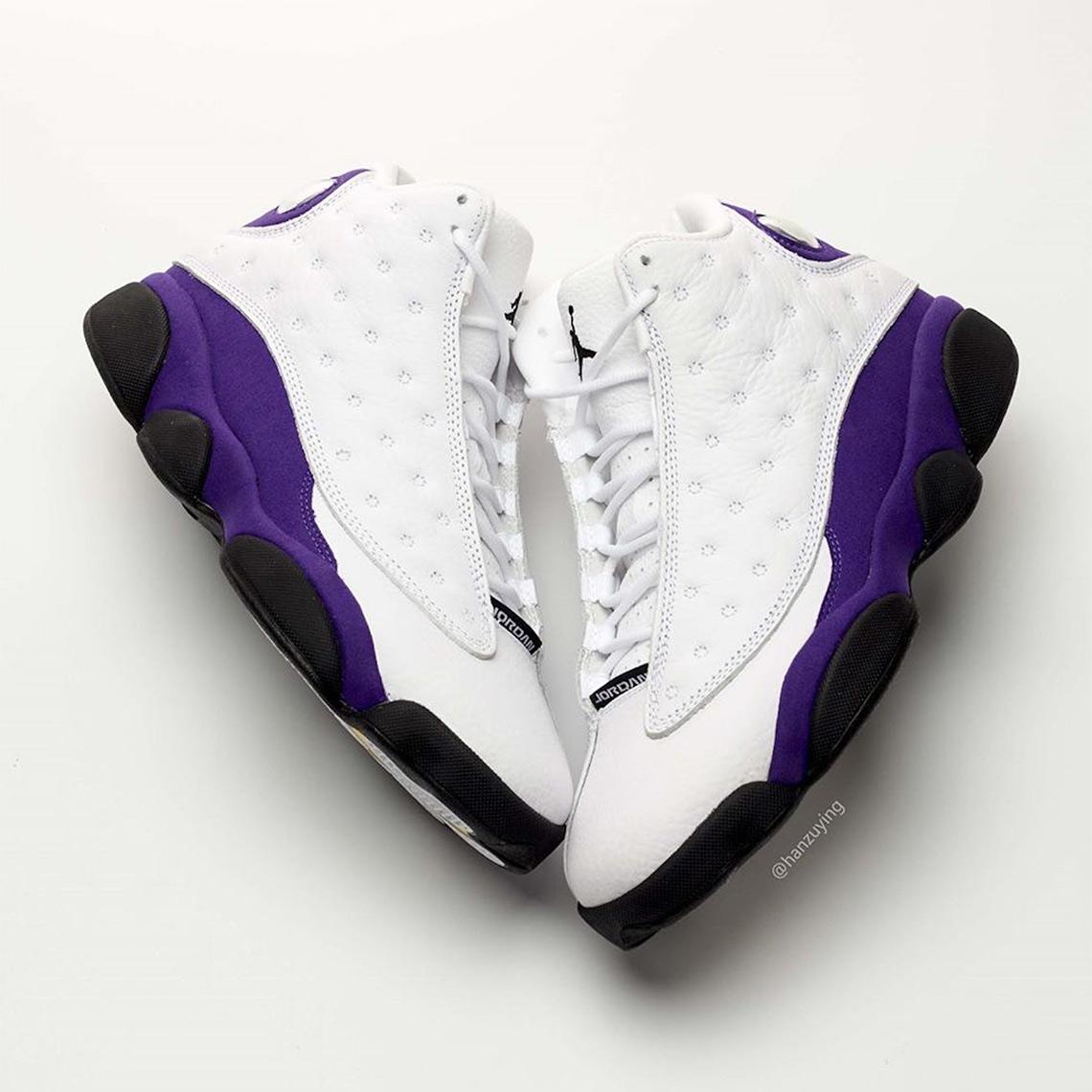 baf9e63a278 Air Jordan 13 Retro Release Date: July 20th, 2019 $190. Color: White/Black-Court  Purple-University Gold Style Code: 414571-105. Advertisement. Advertisement