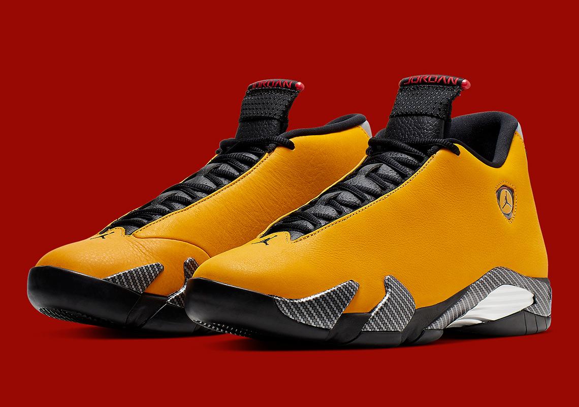 the best attitude a47e5 835e3 Jordan 14 Yellow Ferrari BQ3685-706 Store List | SneakerNews.com