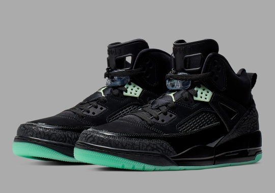 The Jordan Spiz'ike Is Back In Black And Green Glow