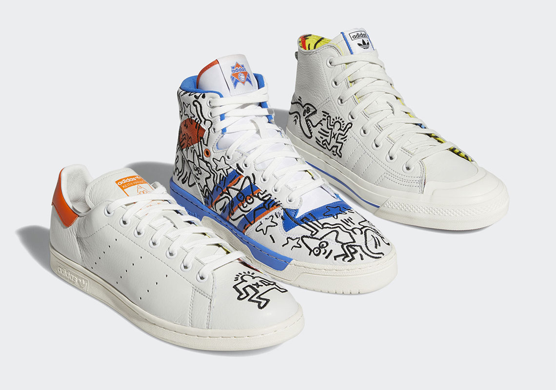 low priced 254df 13c46 Keith Haring adidas Stan Smith Rivalry Nizza EE9295 EE9296 ...